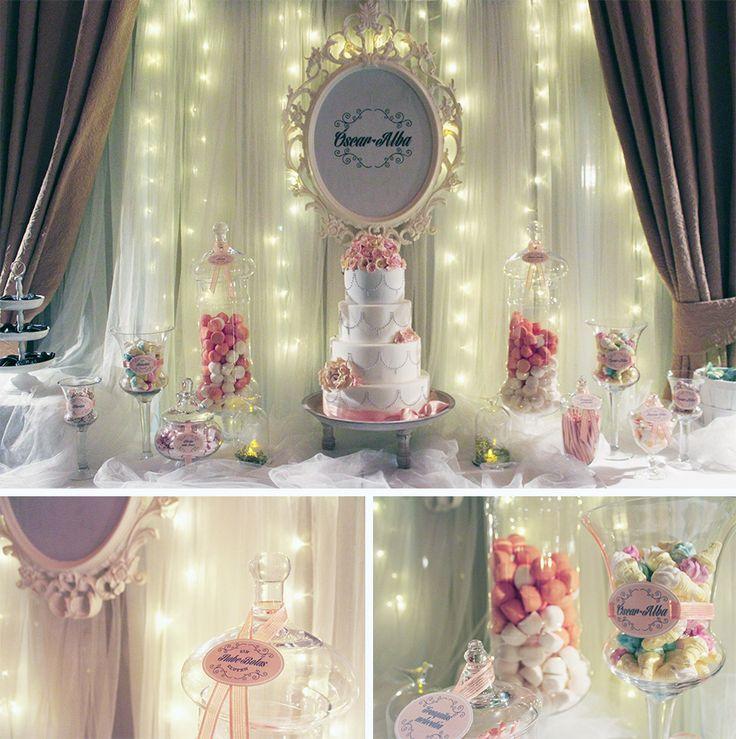 Candy bar para bodas, comuniones, bautizos. Mesas de dulces y decoración para eventos. Candy bar estilo rústico, estilo clásico, estilo vintage,... Sweetemotion.es bodas La Rioja