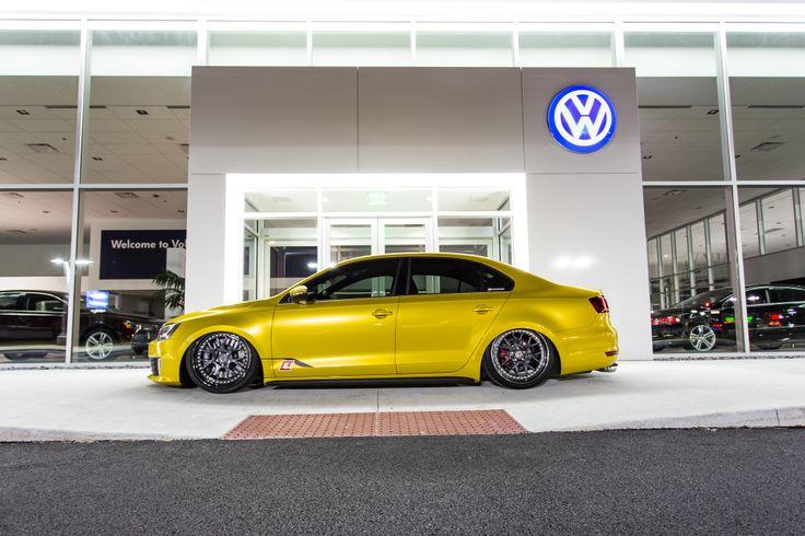 Bad yellow wrapped MK6 Jetta GLI Jetta gli, Volkswagen