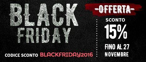 Approfitta del #BlackFriday per i tuoi #regalidinatale : -15% di sconto su tutti gli articoli, fino al 27 Novembre!   Approfittane ora, usa il codice BLACKFRIDAY2016 su http://www.fotoregali.com/