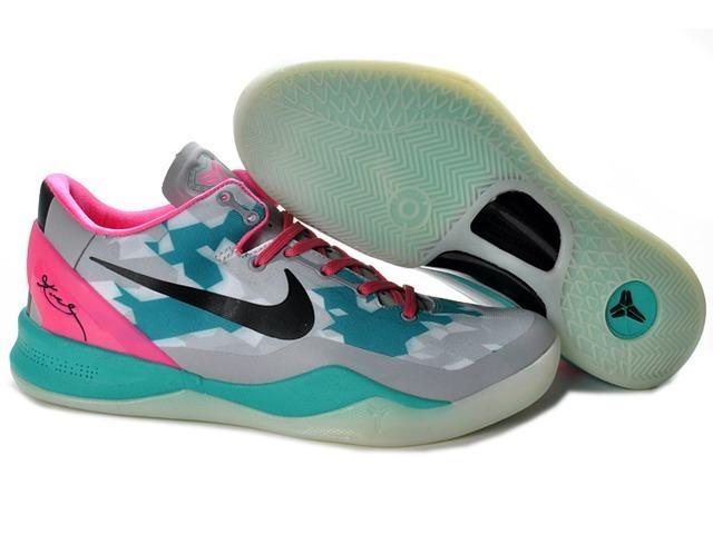 Nike Zoom Kobe 8 VIII Shoes South Beach Gray Jade Pink $57.92 #Kobe Bryant  Basketball