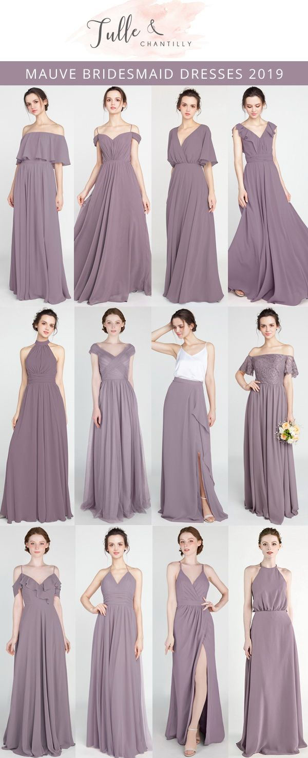 60977e727b1 TULLE   CHANTILLY mauve bridesmaid dresses 2019  wedding   weddinginspiration  bridesmaids  bridesmaiddress  bridalparty  maidofhonor   weddingideas ...