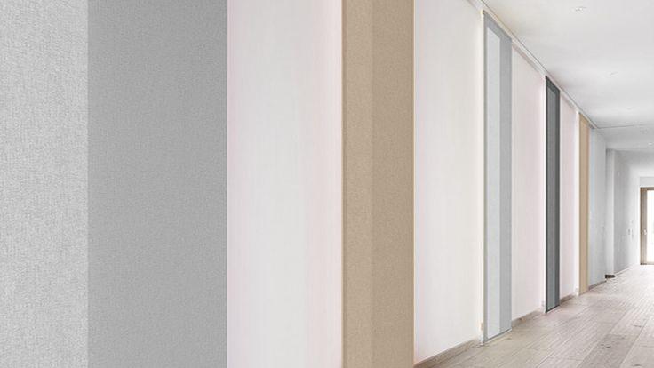 Der blickdichte Flächenvorhang AKUSTIK COLOURS aus Trevira CS zeichnet sich durch seine schallabsorbierenden Eigenschaften, eine große Farbauswahl und sein nicht brennbares Material aus. Eingestuft in die Schall-Absorptionsklasse C (=...