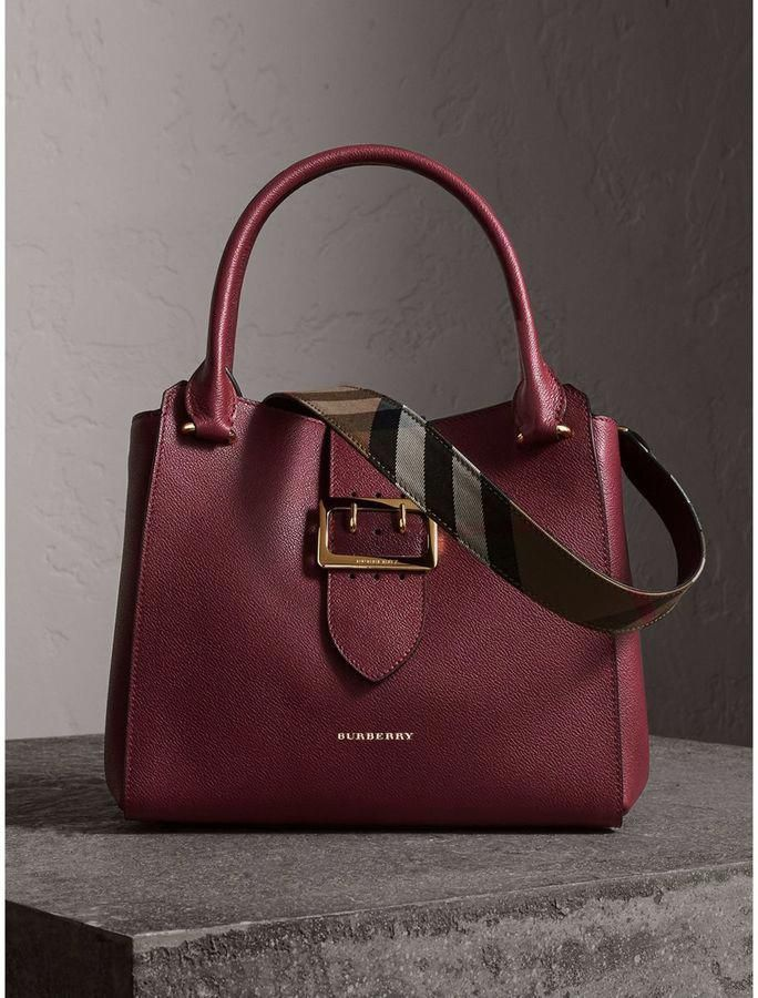 41b6e293ce8a Burberry The Medium Buckle Tote in Grainy Leather  affiliate   Burberryhandbags