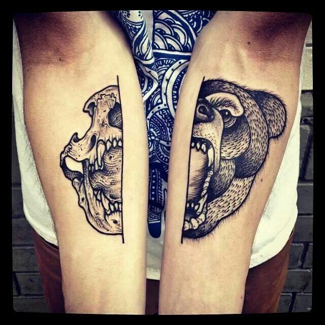 Barbe Rousse #dotwork #tattoo