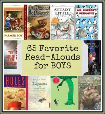 Great books to read aloud with little boys - I remember (and love) quite a few of these books!