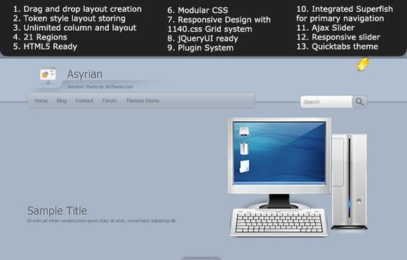 Check out Asyrian Premium Drupal 7 Theme by VicTheme on Creative Market