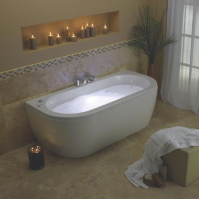 Cooke & Lewis Luxury 6 Jet & LED Whirlpool System (Chrome Controls), 0000003827253