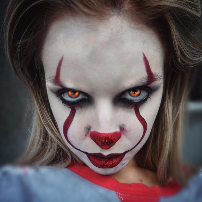 Maquillage clown \u2013 nez rouge, humour noir