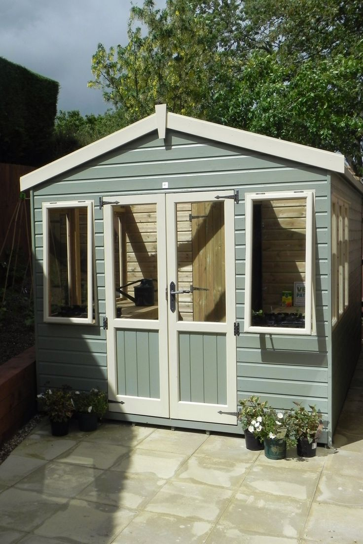 Bespoke Potting Shed painted in Ronseal Colours