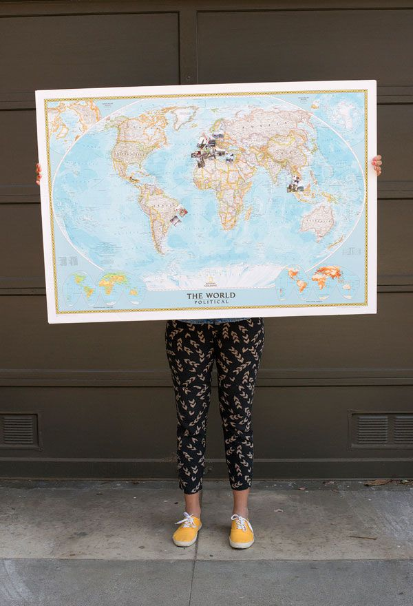 Travel Memory Map DIY | Oh Happy Day!