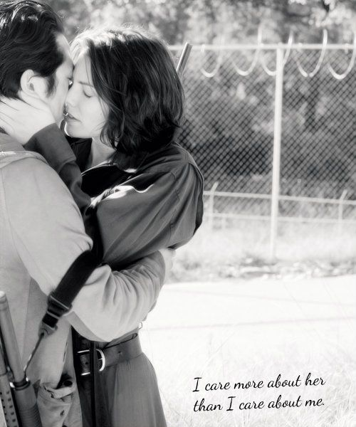 """The Walking Dead ~ """"I care more about her than I care about me.""""  -Glenn"""