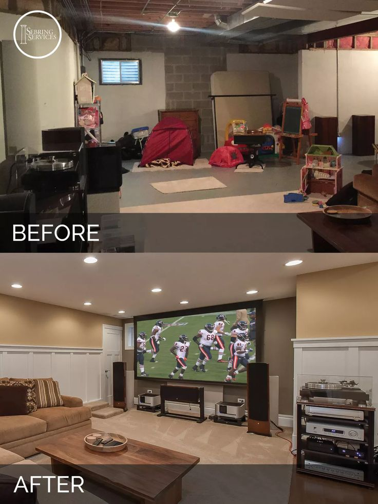 Naperville Basement Before and After Remodeling - Sebring Services