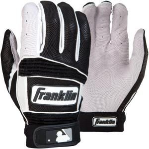Franklin Neo Classic ll Batting Gloves Pair-Black/Pearl Delivery Australia Wide Breathable ventilated back Authentic On-field professional model DIGITAL leather palm with QUAD-FLEX creasing TRI-CURVE construction Floating thumb technology