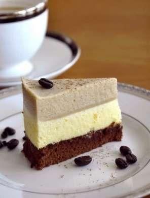 Dolci al mascarpone - Torta con crema al mascarpone, caffè, cioccolato e nocciola