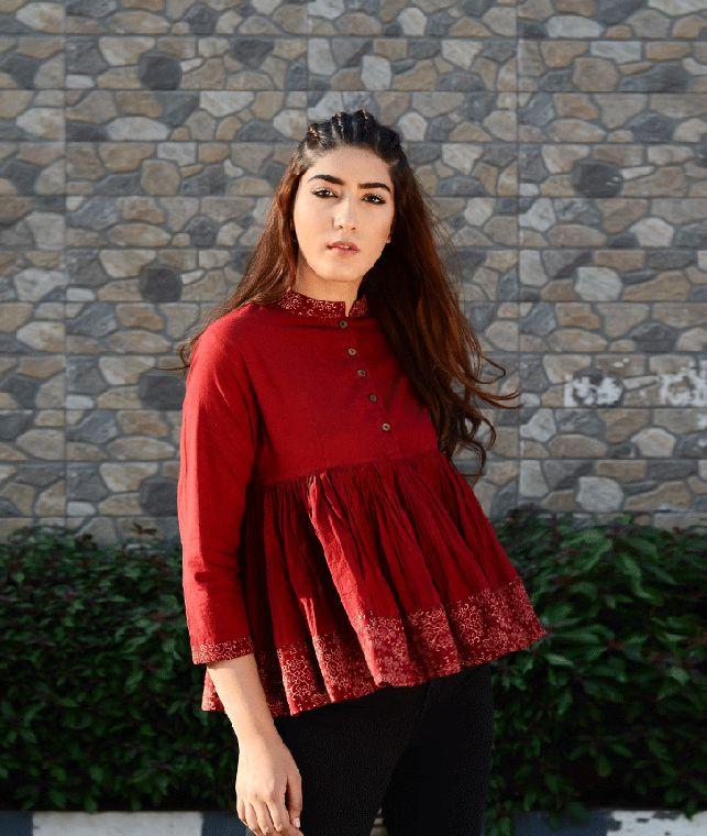 Buy The Block Script by Chidiyaa Block-printed cotton tops, kurtas, dresses and pants Online at Jaypore.com
