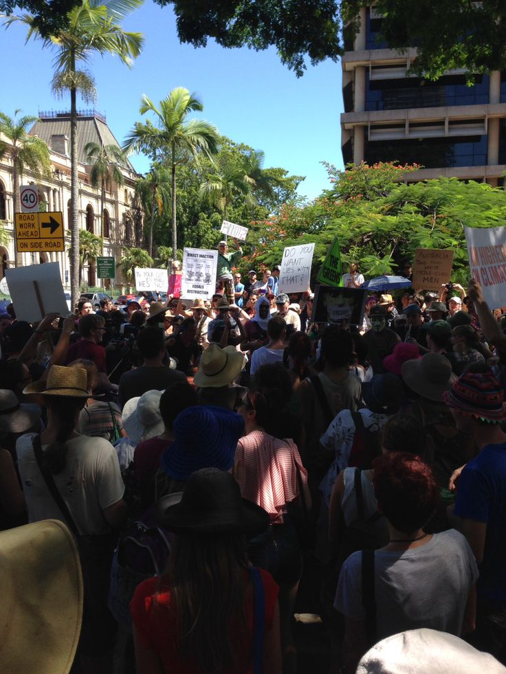 Snapshot from Brisbane's march in march Australia 2014
