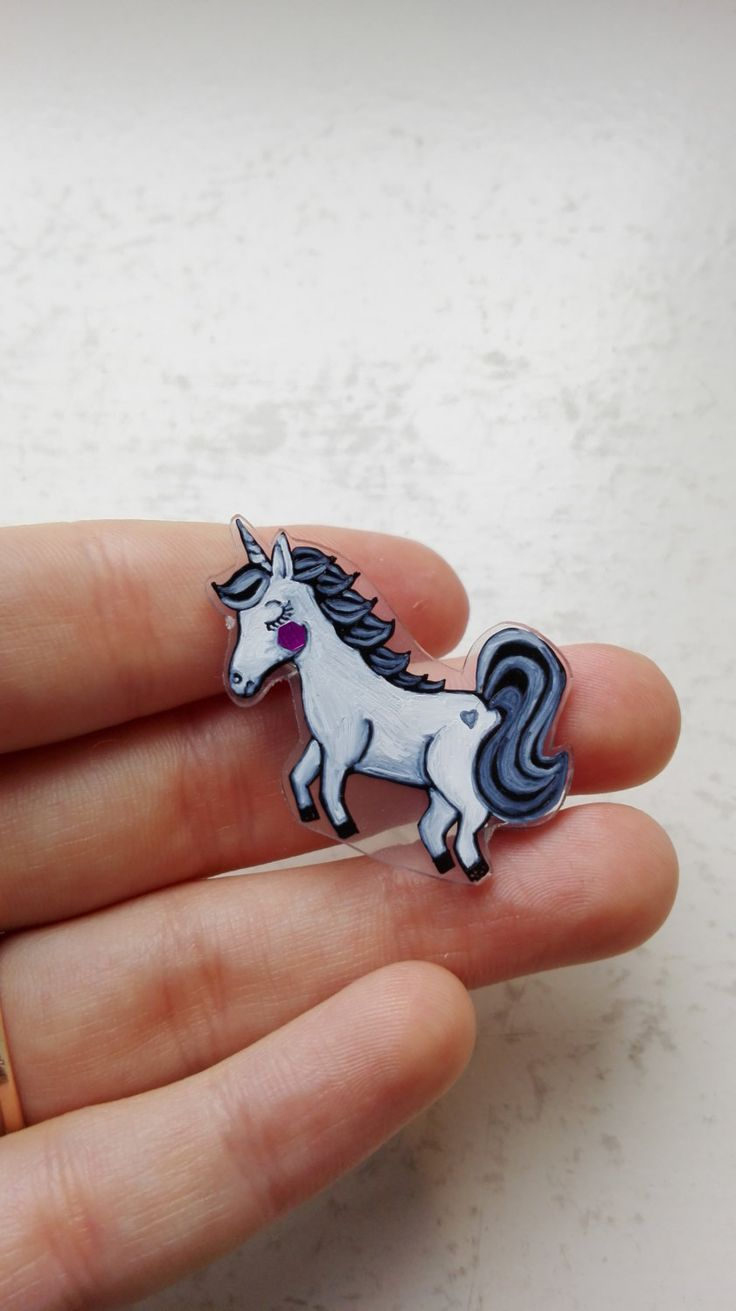 Graceful unicorn brooch Laine /mythical apology gift /unicorn accessories /unicorn badge/ unicorn pin/ sparkly jumping unicorn by FoxyFoxShop on Etsy