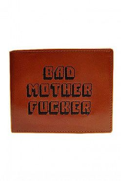 """Увеличить """"Бумажник Bad Motherfucker """"Криминальное Чтиво"""" (Pulp Fiction Bad Motherfucker Wallet Brown Embroidered Logo)"""""""