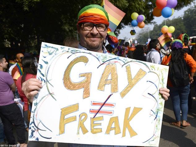 The fifth annual Delhi Queer Pride parade in New Delhi.   Advocate.com