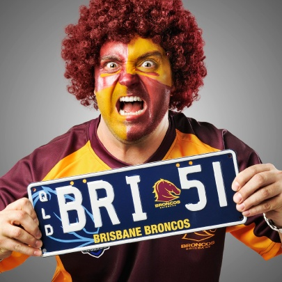 The #Brisbane #Broncos #Personalised #Plate