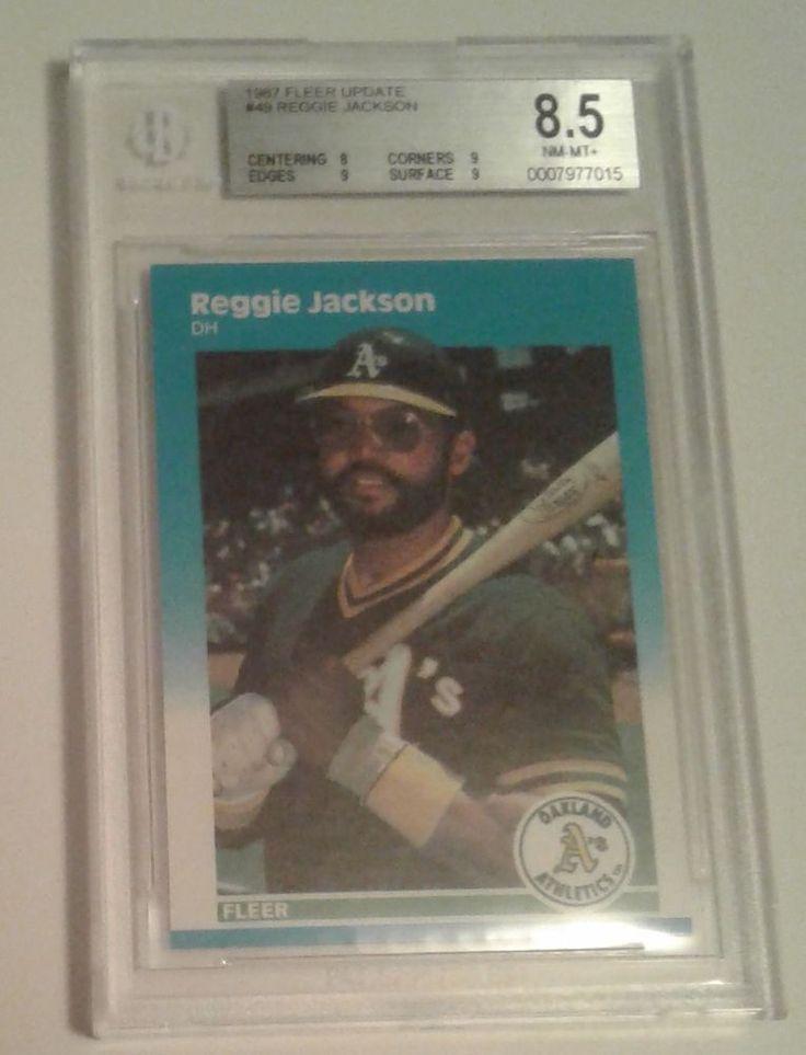 1987 FLEER UPDATE REGGIE JACKSON # 49 BGS 8.5 #Athletics #OaklandAthletics