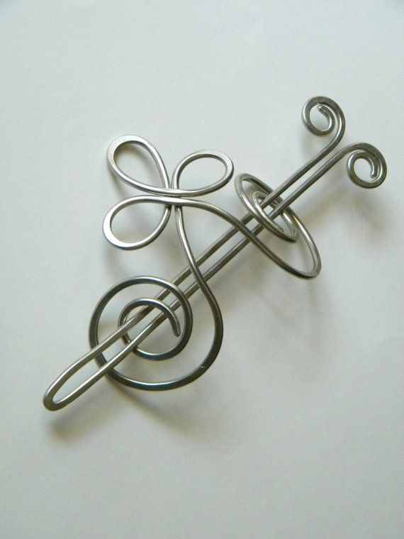 Silver Hair Clip Hair Barrettes Barrette by ElizabellaDesign, $22.50  (When my hair grows long...)