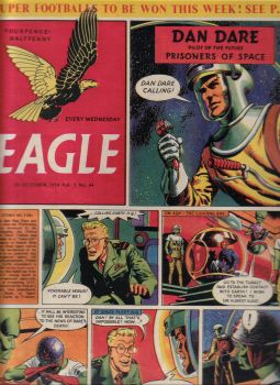 EAGLE COMIC 29 OCT 1954 Vol.5 No.44 DAN DARE P.C.49 RIDERS OF THE RANGE VINTAGE BOYS PUBLICATION
