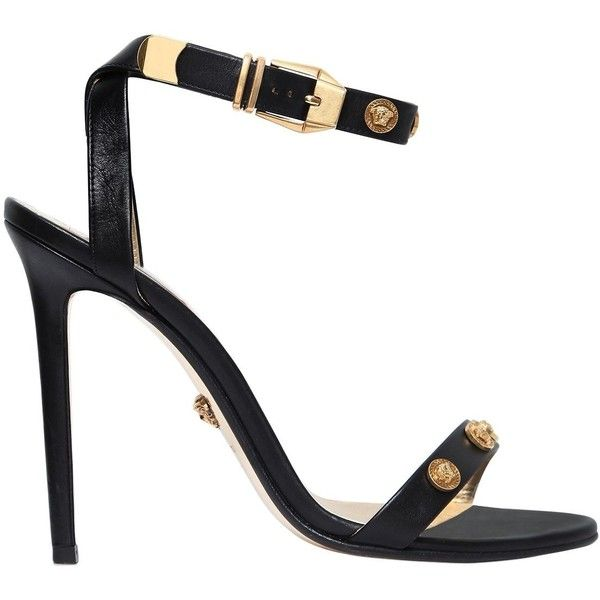 70b0e67a9b Versace Women 95mm Studded Leather Sandals ($1,145) ❤ liked on ...
