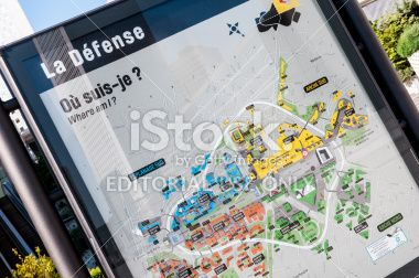 Map of La Defense business centre in Paris Royalty Free Stock Photo