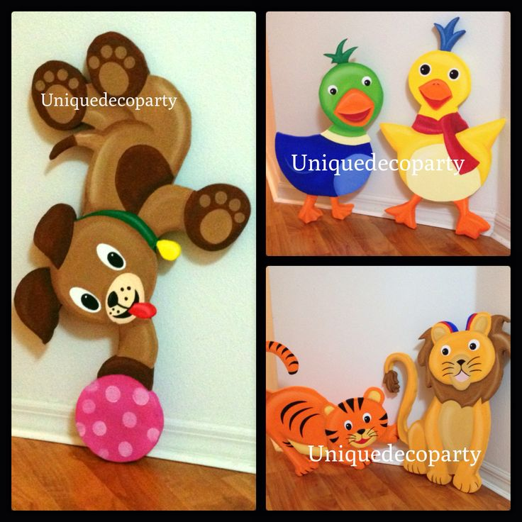 Baby einstein characters for birthdays or room decor for Baby einstein decoration