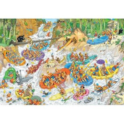 Puzzle 3000 pièces : Jan Van Haasteren : Rafting extrême - Jumbo-19017