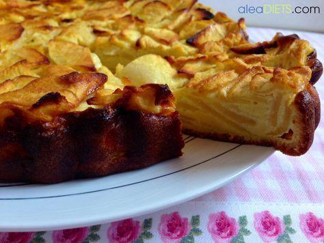 Tarta de manzana light - La dieta ALEA - blog de nutrición y dietética, trucos para adelgazar, recetas para adelgazar