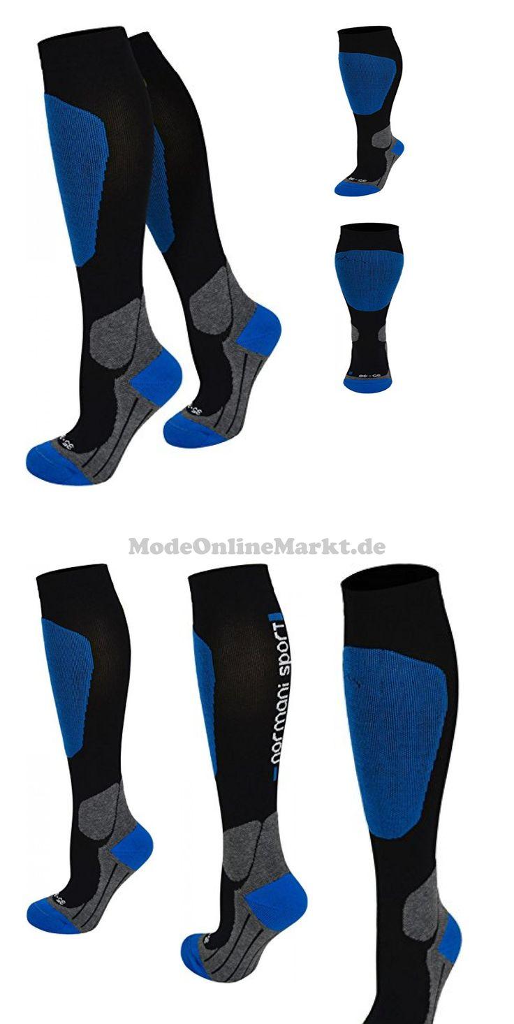 9858598957548 | #1 #Paar #Kompressionsstrumpf #Ski-kniestrümpfe mit #Spezialpolsterung #Farbe #Blau #Größe #35/38