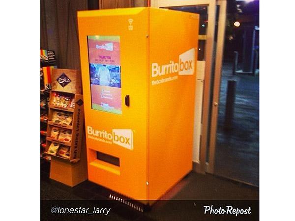 the world s first burrito vending machine