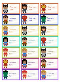Editable Superhero Stickers...A set of editable superhero themed stickers, ideal to use as rewards for children who achieve certain goals. #superheroes