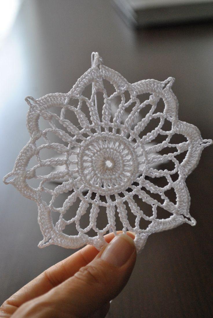 Crochet snowflake,Christmas decoration,Winter Hanging ornament,Wedding Gift,Crochet ornaments,White crochet snowflakes,Handmade ornaments by UpRo on Etsy https://www.etsy.com/listing/470793571/crochet-snowflakechristmas