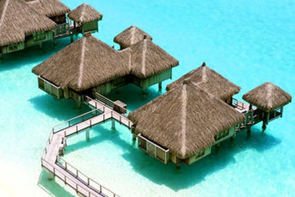 Bora Bora, Over-water bungalows