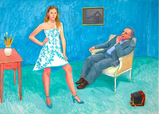 David Hockney - The Photographer and his Daughter, 2005