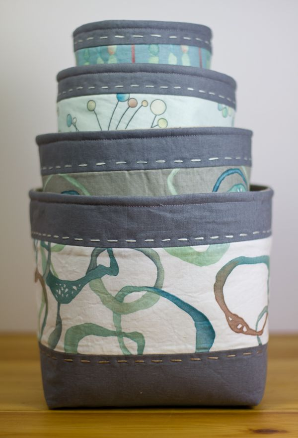 Fantastic fabric nesting bowls featuring the Alchemy fabric collection, designed by Shell Rummel
