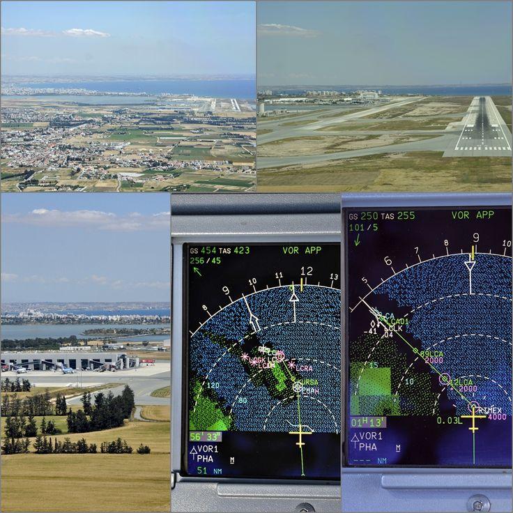 14.Η σύνθεση αυτή των φωτογραφιών είναι του Σαββάτου τραβήχτηκαν περίπου την ίδια ώρα και στον ίδιο διάδρομο προσγείωσης. Αιτία η Αφρικανική σκόνη που υπήρχε την Κυριακή στην ατμόσφαιρα. Διεθνής Αερολιμένας Λάρνακας (IATA: LCA, ICAO: LCLK), βρίσκεται περίπου 4 χιλιόμετρα Νοτιοδυτικά της πόλης της Λάρνακας.
