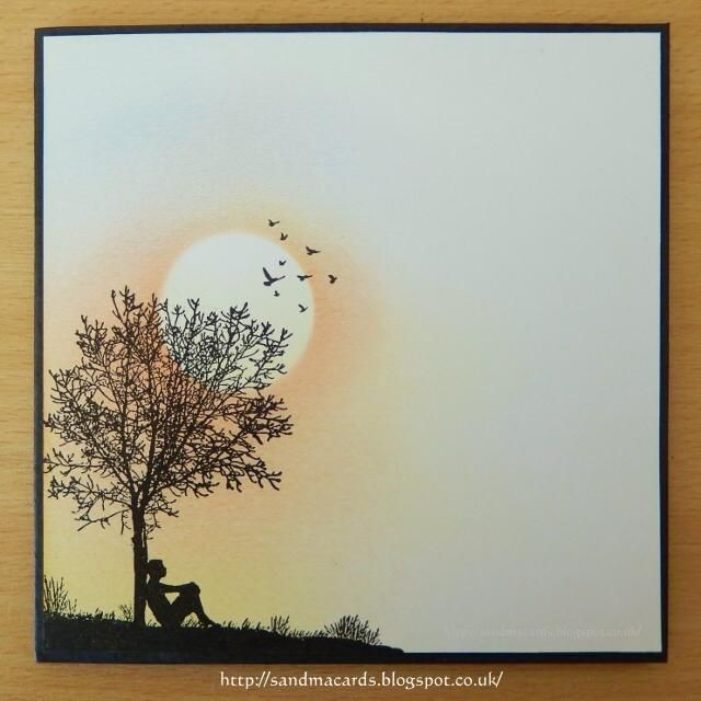 Sandma's Handmade Cards: Serene Sunset
