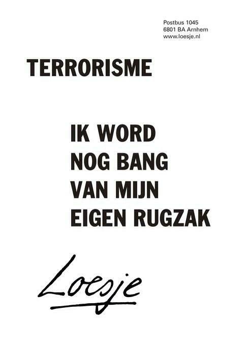 #loesje #terrorisme