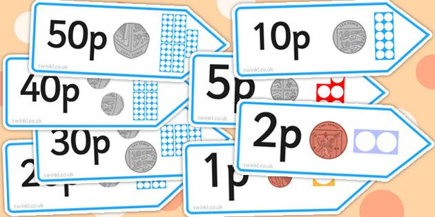* NEW * Number Shape Price Labels with Coins