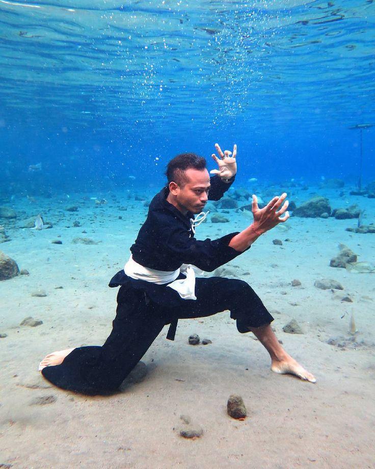 Underwater training - Pencak Silat
