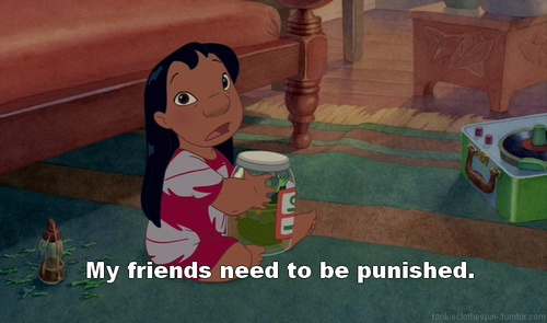 Not that my friends need to be punished. I just always loved Lilo :): My Friend, Friends, Lilo Stitch, Movies, Lilo And Stitch, Disney, Stitches