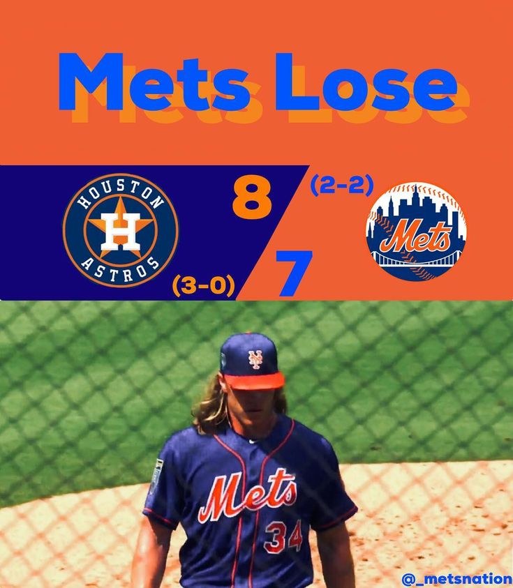 The Mets lost by a score of 8-7 to the Astros today.  Even though they lost this wasn't a bad game.  First off straight out of the gates Syndergaard has established himself as a CY Young contender.  He through many pitches over 100 mph and had many impressive at-bats including striking out Altuve.  The two innings that he pitched were extremely promising and the offense was very good throughout the game hitting seven runs in total.  There were four runs scored in the fourth alone too.  The…