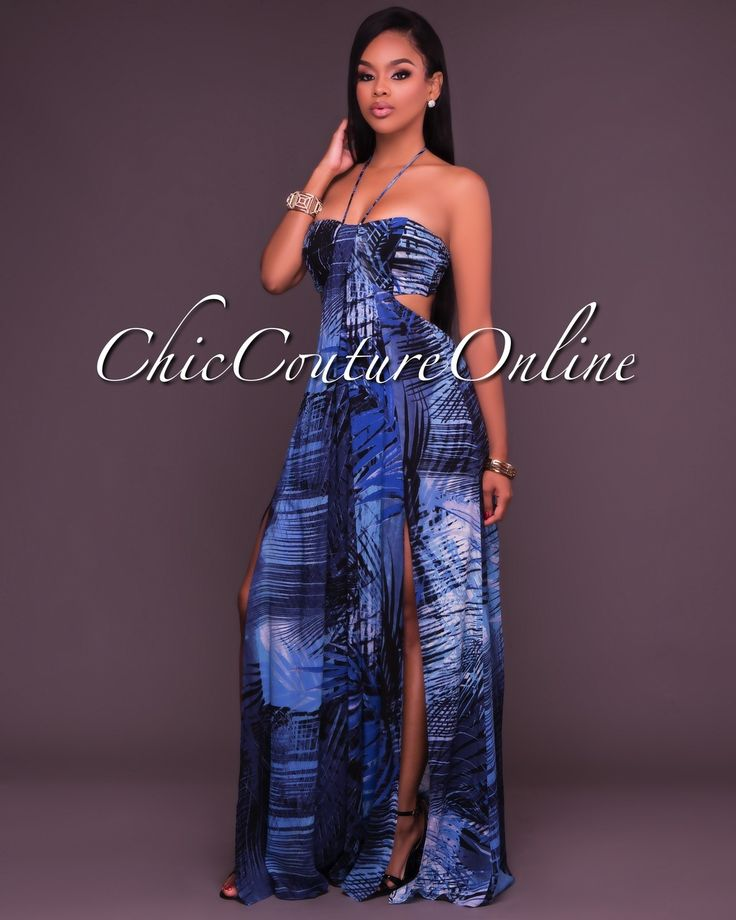 Chic Couture Online - Juana Blue Print Open Back Maxi Dress, (http://www.chiccoutureonline.com/juana-blue-print-open-back-maxi-dress/)