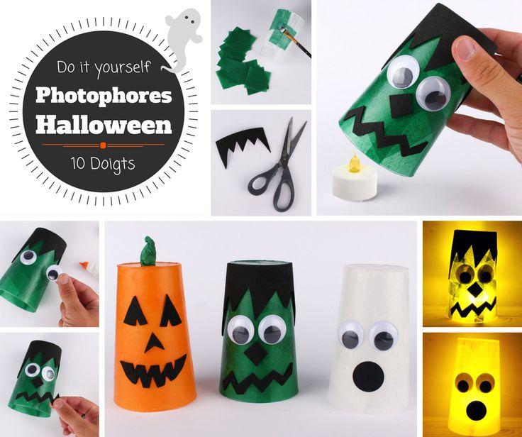 14 best bricolages d 39 halloween images on pinterest 10 doigts bricolage et bricolage facile - Bricolage d halloween ...