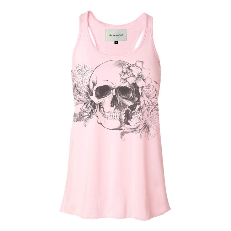 Floral Skull Tank Women's  by The Rise And FallTanks Women, Fashion, Style, Fab Com, Women Tanks, Fall, Tanks Tops, Floral Skull, Skull Tanks