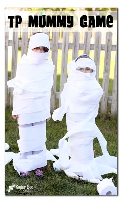 Toilet Paper Mummy Game - Sugar Bee Crafts